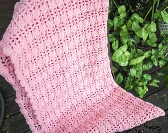 Deep Pink Baby Blanket