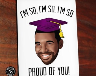 So Proud of You - Hip Hop Rap Lyrics Graduation Card - Good Job Congratulations Card 4.5 X 6.25 Inches