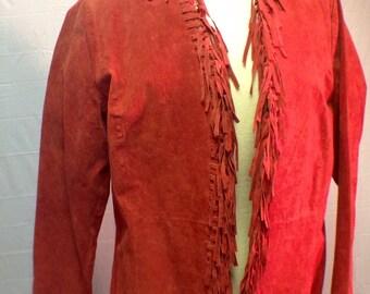 Red Western Fringe Jacket