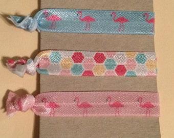Flamingo Hair Ties