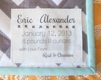 Personalized Quilt Label Quilt Patch Custom Fabric Label : personalized fabric quilt labels - Adamdwight.com