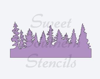 Trees Stencil