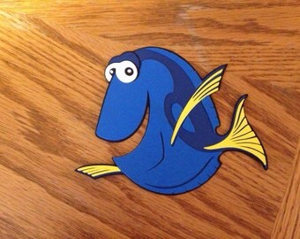 Dory die cut from Finding Nemo and Finding Dory