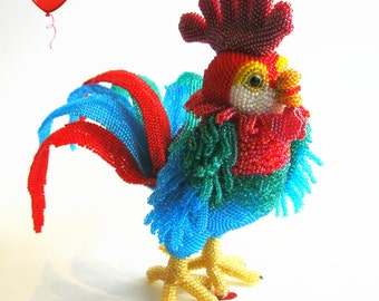 "Pattern / Tutorial Beaded Ornament -Master class to create ""Peter-Cock"""