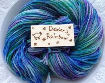 Hand dyed super wash Merino DK