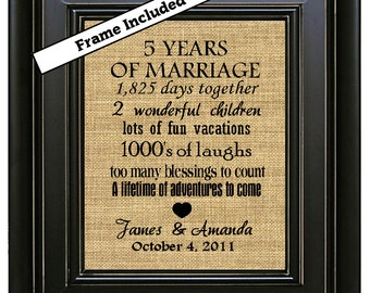 19 Anniversary 5th Gifts Wedding Gift 5 Years Fifth Year