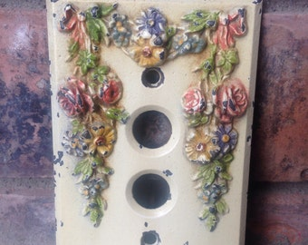 Gorgeous antique light switch cover