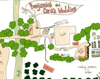 Customized Wedding and Event Maps!