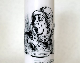 Alice in Wonderland Mad Hatter pillar candles