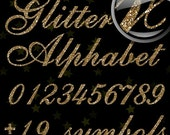 50% OFF Gold Glitter Alphabet, Digital Glitter Alpha, Gold Digital Alphabet Letters, Gold Glitter Letters, Large Glitter Letters,  Design #7