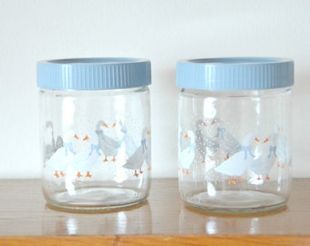 Jars the perfect, blue lid, decor geese