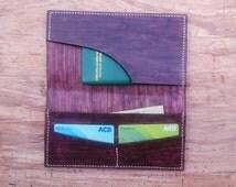 4 pocket wallet, minimalist leather wallet design, hanmade multifunctional wallet, leather passport holder, leather business card holder