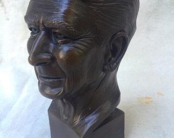 Desktop Bronze Bust of Ronald Reagan
