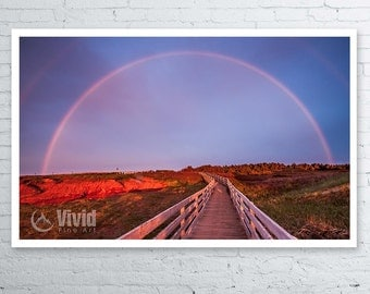 Prince Edward Island, rainbow photography, framed prints, Cavendish beach, fine art, rainbow print, path picture, rainbow picture, PEI gift