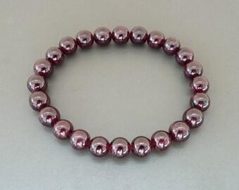 Natural Garnet Bracelet for women Men Gemstone Bracelet Meditation Stretch Bracelet Genuine Garnet healing bracelet beaded bracelet for her