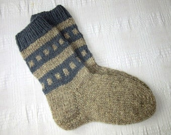 Men's Knitted Socks, Wool Socks For Men, Hand Knit Socks, Women Socks, Woolen knitted socks, Ready to ship