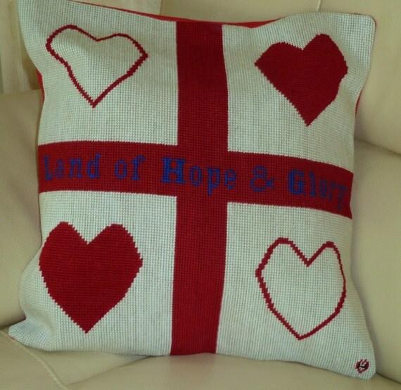 Bespoke Country State flag needlepoint cushion personalised