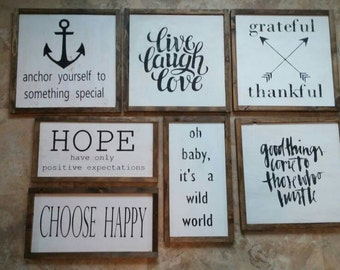 SIGN SALE!!! 40% off regular price. We have one of each design available. ---free shipping!