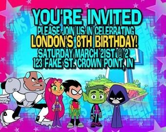 Teen Titans Go Invitation