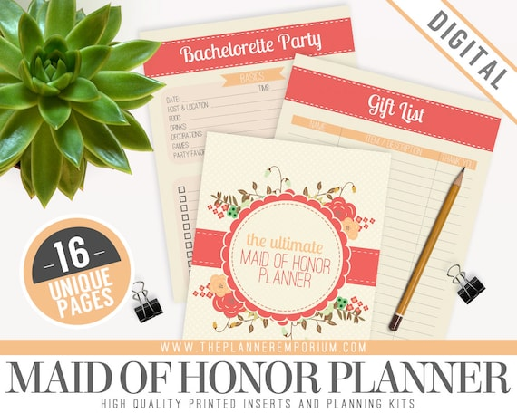 Ultimate Maid Of Honor Wedding Planner Organizer Kit