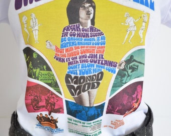 Psychedelic T shirts, mondo mod 60s cult movies