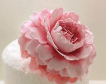 Peony sugar flower blush pink