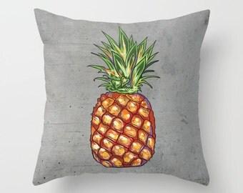 Throw Pillow - Pineapple Pillow - Decorative Pillow - Tropical Fruit Pillow - Decorative Cushion  - Pineapple Cushion - pineapple decor