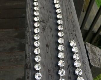 Swarovski crystal necklace and bracelet set 8mm clear crystals