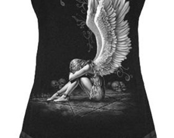 Stud Waist Mini Dress Top ENSLAVED ANGEL Goth