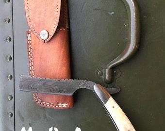 KUZACH Knives LLC Damascus Steel Straight Razor
