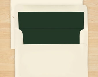 Hunter Green Envelope Liner - Additional Options