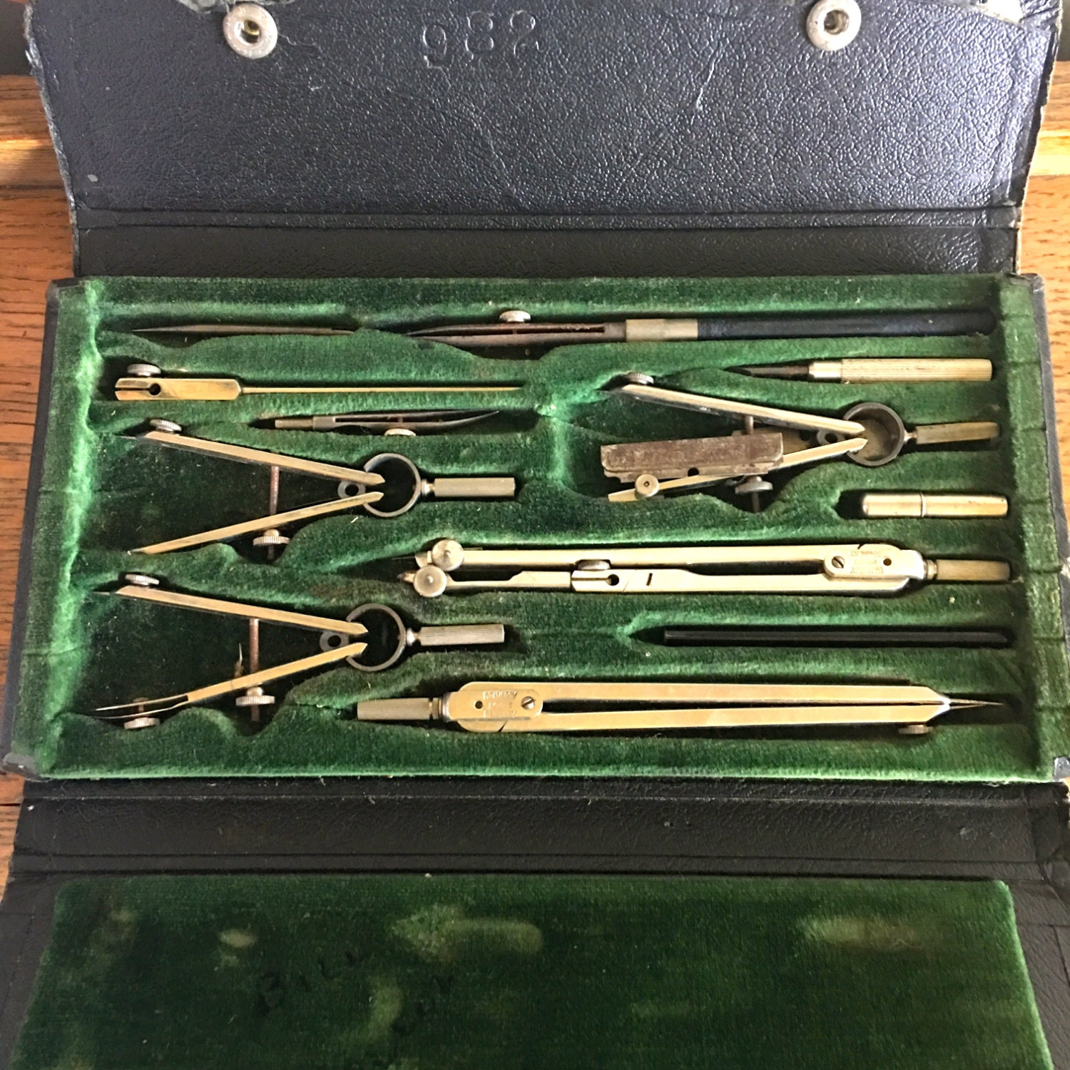 Vintage black architectural drafting set made in germany for Architecture drawing tools