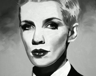 Annie Lennox Fine Art Print (Annie Lennox - Eurythmics - Sweet Dreams - New Wave - Diva - Walking on Broken Glass - Female singer - Icons)