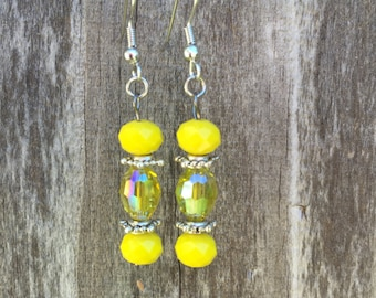 Sunshine Yellow Earrings