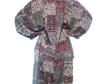 Vintage Boho Dress.Oversize Caftan.Women's Dresses.Beach Dress.Boho Dress.Vintage Dress From 1990's. Free Shipping.Size OS