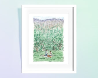 Custom Proposal/Engagement Watercolor Illustration