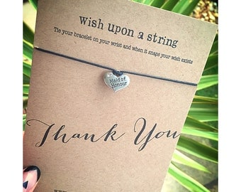 Wishuponastring Thankyou Maid Of Honour Wish String