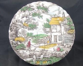 "The Hunter Vintage 10"" Myott English Dinner Plate"