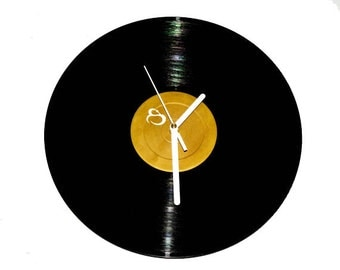 Vinyl Wall Record Clock. Music gift. Birthday gift