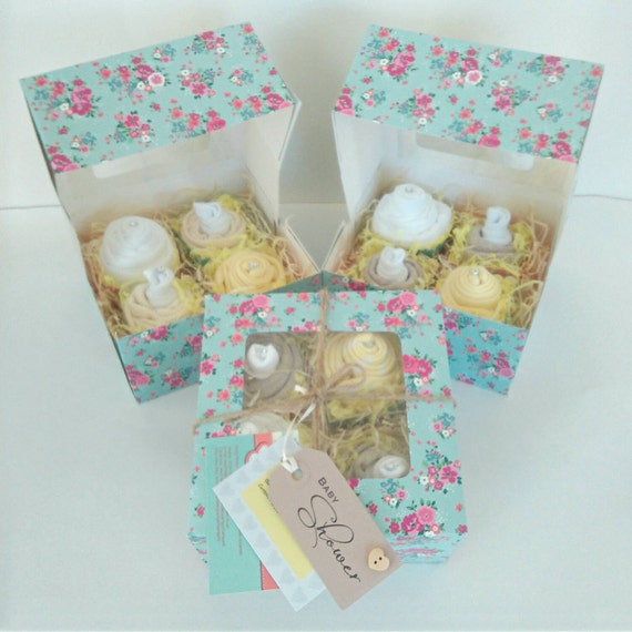 Free Baby Gifts For New Mums Uk : Baby cupcakes shower gift new mum burp cloth