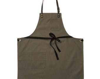 State Street Moss Canvas Apron