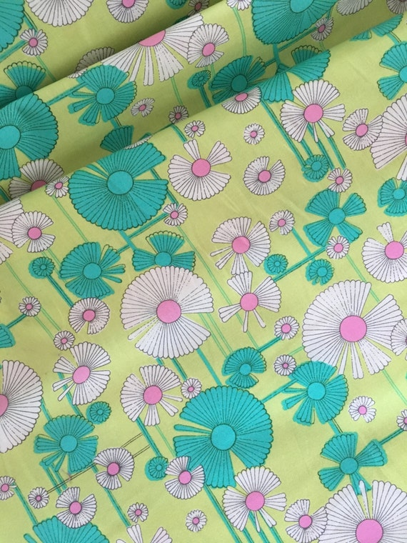 Free Spirit Amy Butler Glow-Wind Flower PWAB129 Zest (yellow) 1/4 yard to 1/2 yard