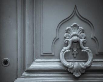 "Paris Photography, Paris Doors, Grey Door, Door Print, Architecture Photography, Le Marais, ""Light Grey Parisian Door"""