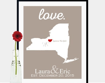 Engagement Gift Idea, Engagement Gifts for Couple, Unique Engagement Gifts, Engagement Gifts for Her, Bride to be Gift -Any State or Country