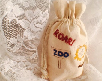 Zoo Favor Bags - Lion Favor Bags - Zoo Party - Birthday Party - Children Party - Boy - Girl - Zoo Gift Bags - Custom - Set of 10 - Wildlife