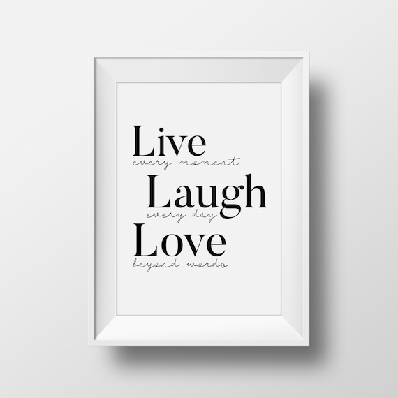 Live Laugh Love Wall Art Live Laugh Love Decal Printable