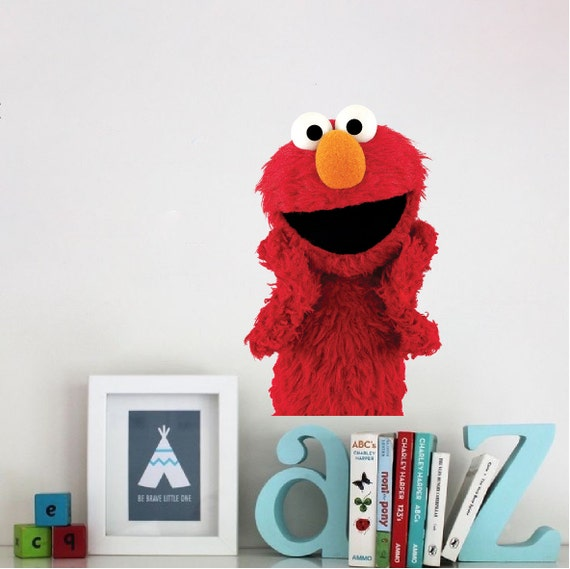 elmo kids bedroom decal elmo wall decal elmo sticker elmo wall cling