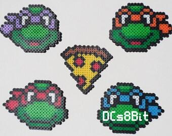 Teenage Mutant Ninja Turtles Perler Magnets