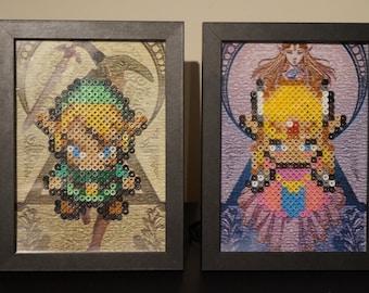 Framed Legend of Zelda 8-bit Hama Beads
