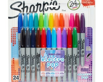 24-Pack Electro-Pop Sharpie Fine Point Permanent Markers